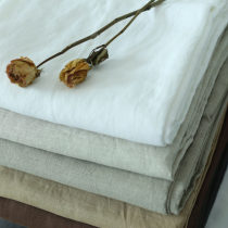 Fabric / fabric / handmade DIY fabric flax Whole volume piece Solid color other bedding article Europe and America 100%