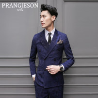 Suit Business gentleman prang jeson Three pieces of dark green (suit + Vest + trousers, white shirt for free) 48(M) routine PJXZ141 Polyester 86% viscose (viscose) 12% polyurethane elastic (spandex) 2% Spring of 2018 Pure e-commerce (online only)