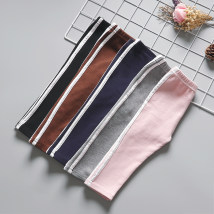 trousers Other / other female 73cm 80cm 90cm 100cm 110cm spring and autumn trousers leisure time No model Leggings Leather belt middle-waisted cotton