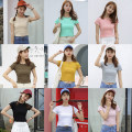T-shirt Gray green brown yellow black water red light pink white Beixing Average size Summer of 2018 Short sleeve Crew neck Self cultivation have cash less than that is registered in the accounts routine Sweet cotton 86% (inclusive) -95% (inclusive) 18-24 years old three point two six college