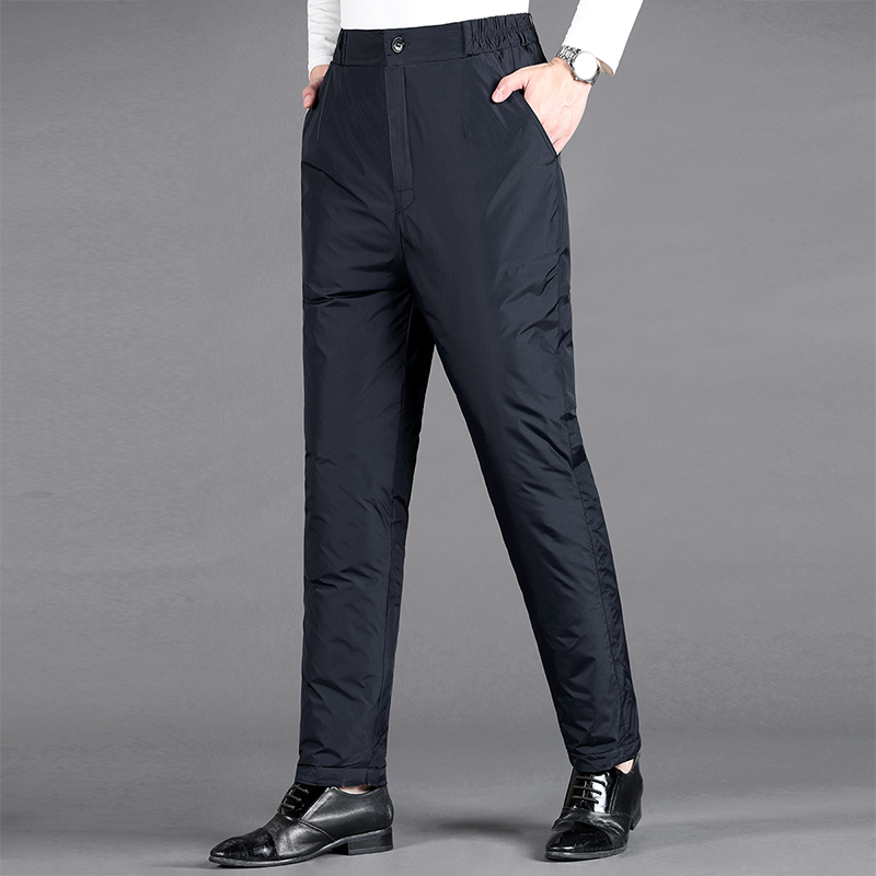 Down pants Other / other Black Navy M (recommended weight: 90-105 kg), l (105-125 kg), XL (125-145 Jin), 2XL (145-165jin), 3XL (165-185jin), 4XL (185-20jin), 5XL (200-220kg) Business gentleman trousers Wear out Unisex 32
