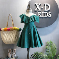Dress As shown in the figure Other / other female 7 (recommended height 95cm) 9 (recommended height 100cm) 11 (recommended height 110cm) 13 (recommended height 120cm) 15 (recommended height 125cm) Other 100% summer leisure time Skirt / vest Solid color A-line skirt C540QZ other