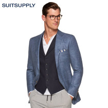 man 's suit Business gentleman blue Suitsupply routine Fifty-eight C1207A Wool 60% mulberry silk 18% flax 18% Cashmere 4% Spring of 2018