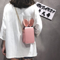 Bag Inclined shoulder bag PU Small square bag Other / other Pink Black Red One shoulder portable messenger soft surface