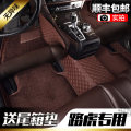 Special car foot pad All inclusive Two seats only lattice Coffee BEIGE BLACK RED Polyurethane / Spandex / PU 91% (inclusive) - 100% (exclusive) Baozhi Land Rover floor mats