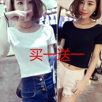 T-shirt White navel for black one piece black short one piece white short one piece white navel for white black navel for black Loss price does not take off, does not fade s m XL l 2XL Summer 2016 Short sleeve Crew neck easy have cash less than that is registered in the accounts routine commute other