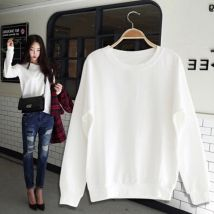 Sweater / sweater Fall 2017 Pink white black grey M L XL 2XL 3XL Long sleeves Socket routine singleton  routine Hood easy commute routine Solid color 18-24 years old Other / other Korean version Other / other