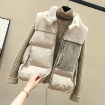 Vest Autumn of 2019 Black Beige S M L XL routine stand collar commute Solid color zipper twenty billion one hundred and ninety million eight hundred and thirty thousand and one I-shaped Muvlban / Muban 96% and above polyester fiber Pocket stitching zipper Polyester 100% Pure e-commerce (online only)