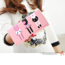 wallet Long Wallet PU Other / other Long pink long black long purple long watermelon red short pink short black short purple short blue brand new youth