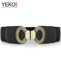 Belt / belt / chain Pu (artificial leather) Red black female Waistband Versatile Single loop Youth, middle age and old age a hook other soft surface