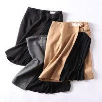 skirt Autumn of 2018 S M Grey black brown Short skirt commute A-line skirt 18-24 years old FG125366 31% (inclusive) - 50% (inclusive) other Korean version
