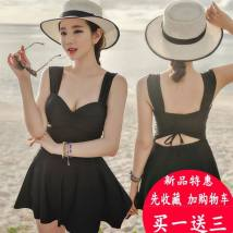 one piece  See description M (collection and shopping cart) l (mobile phone waterproof bag) XL (thick sponge breast pad) XXL (collection and shopping cart) XXXL (priority delivery) Skirt one piece Steel strap breast pad nylon Confidentiality o