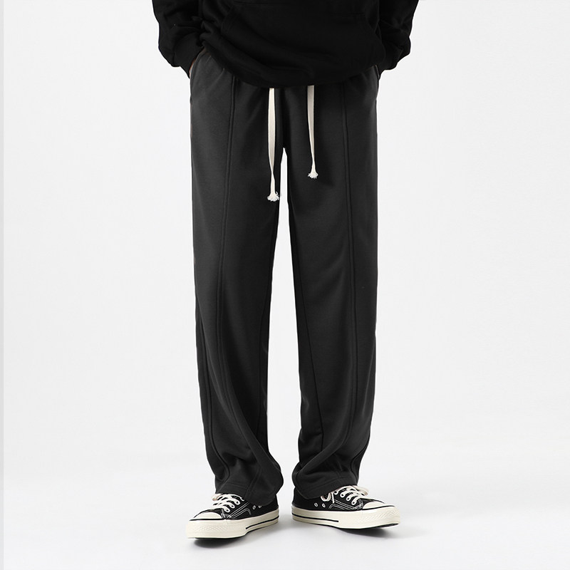 Casual pants Xhh Youth fashion Black [Plush style] black [autumn and winter style] M L XL 2XL 3XL routine trousers Other leisure easy Micro bomb youth