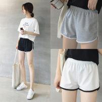 Casual pants Grey black white XXLMLXL Summer of 2018 shorts Wide leg pants High waist commute routine 18-24 years old 9102- Koyakou Korean version