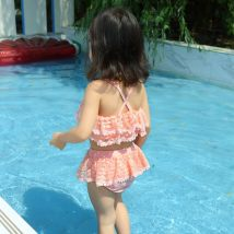 Bathing suit 90cm 100cm 110cm 120cm 130cm 140cm Other 100% White purple pink Other / other female Children's split swimsuit Forty-three Class B