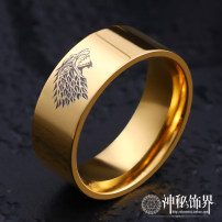 Ring / ring Titanium steel 51-100 yuan Other / other brand new goods in stock Europe and America male Fresh out of the oven Not inlaid other