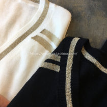 Wool knitwear M for SM L for LXL Fall of 2018 White black wool above 95