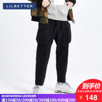 Casual pants Lilbetter Youth fashion black 170/M thick Micro bomb T-9184-001801 Cotton 95.7% regenerated cellulose fiber 4.3% other Winter of 2018 Pure e-commerce (online only)