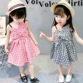 Dress Red and black Other / other female 80cm 90cm 100cm 110cm 120cm Cotton 90% other 10% summer Versatile Skirt / vest lattice cotton other Class B