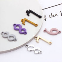 Other DIY accessories Other accessories Alloy / silver / gold 0.01-0.99 yuan 8 white K color 8 K gold 8 purple 8 yellow 8 Pink 8 Black 8 gray 7 white K color 7 K gold 7 purple 7 Pink 7 Black 7 gray 6 white K color 6 K gold 6 Purple 6 yellow 6 PINK 6 BLACK 6 gray brand new Fresh out of the oven