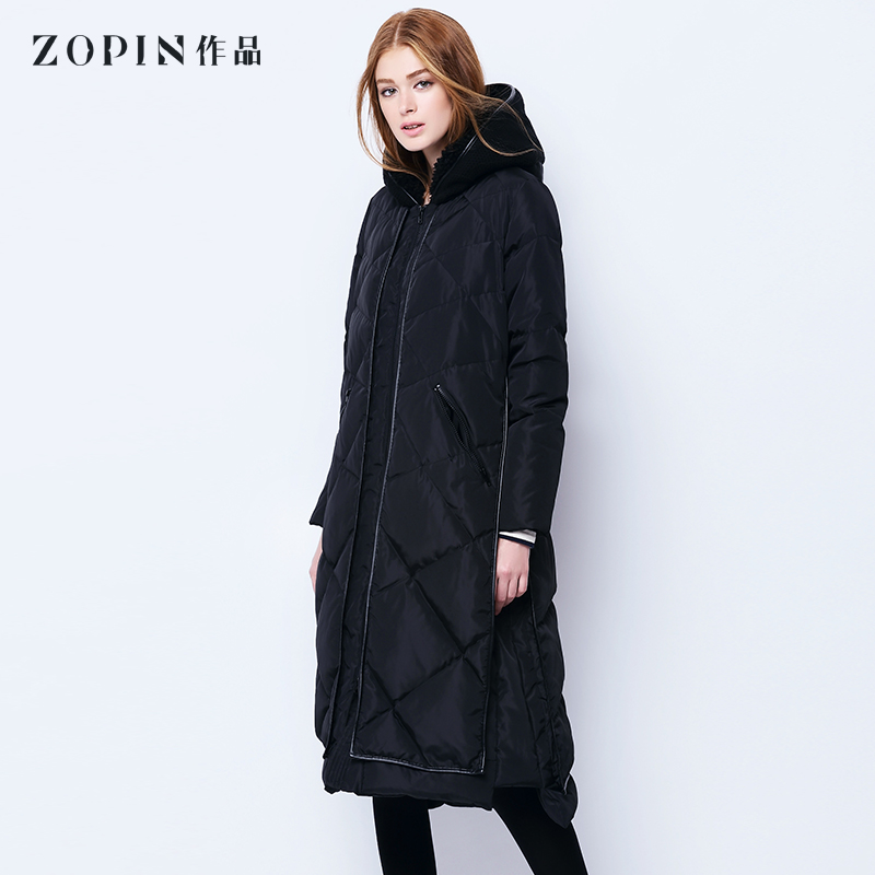 Down Jackets Autumn of 2018 Zopin / works black SML White Velvet 80% have more cash than can be accounted for Long sleeves thickening zipper Hood commute routine Straight cylinder Solid color S1F0W3D016- 150g (including) - 200g (excluding) 30-34 years old Polyester 100%