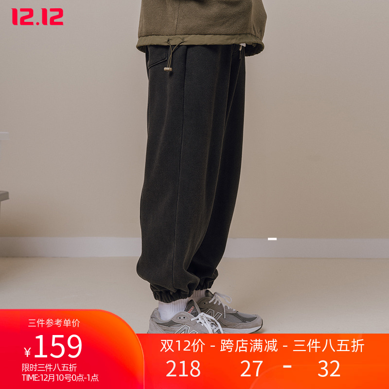 sweatpants  easy S,M,L,XL youth trousers Youth fashion NOTHOMME Dark grey (XL pre-sale 2 weeks) Other leisure winter tide Plush and thicken 2019 19K043 low-waisted Little feet Micro bomb Solid color Wash and make old Cotton 50% polyethylene terephthalate (polyester) 50% washing cotton Fleece