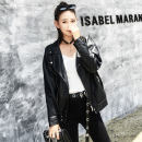 leather clothing Fall 2017 Black without velvet black with velvet S M L XL Other/others Short paragraph Loose Long sleeve zipper Commuting suit collar conventional Washed leather Six hundred and sixty-six zipper PU 96% and above