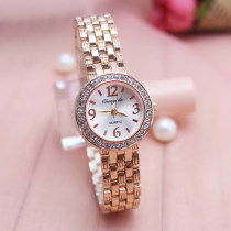 Wristwatch Ordinary glass mirror Gold plated alloy 23mm Shop warranty CYD CHAOYADA Female Electronic movement domestic 3ATM 8mm Woven, narrow chain, pearl fashion Circular Pointer brand new BZ001 Single folding buckle ordinary Bracelets two thousand and sixteen ordinary China