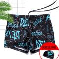 Men's swimsuit You you 27121 blue L (90-110kg) XL (110-135kg) 2XL (135-150kg) 3XL (150-175kg) 4XL (175-200kg) boxer swimming trunks polyester fiber Summer 2017 yes
