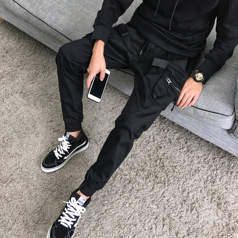 Casual pants The sixth lightning Youth fashion black M routine No bullet 37K16 Cotton 75% polyester 25% other Autumn 2016 Pure e-commerce (online only)