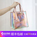 Bag PVC handbag Daughter bag CHARLES & KEITH blue pink brand new European and American fashion Casual In hard Magnetic buckle Pure color youth candy