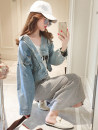 short coat Fall of 2018 S M L Light blue Long sleeve Short paragraph conventional Single Loose conventional street POLO collar Single-breasted Dreamer