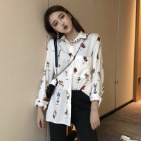 shirt Decor Average size (160 / 84A) Autumn of 2018 other 51% (inclusive) - 70% (inclusive) Long sleeves commute Regular Single row multi button R1172