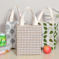 Lunch box bag 000 one thousand and four public Idyllic European style yes Simple and fresh linen waterproof Cotton handle for sweat absorption and comfort Two to three layer lunch box Length 20.5 * width 13 * height 26cm
