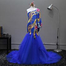 Children's dress Sapphire Blue + headdress Red + headdress red sapphire blue female 90cm 100cm 110cm 120cm 130cm 140cm 150cm 160cm Other / other full dress GZJD-0310 Class B other Polyester 100%