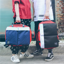 Backpack Nylon  Other / other Black and white red white blue white red gray dark blue black brand new large zipper leisure time Street trend soft yes
