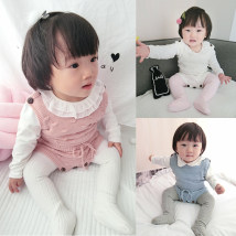 Jumpsuit / climbing suit / Khaki Other / other Class A currency White Blue Pink 66 (0-6m) 73 (6-12M) 80 (12-18m) 90 (18-24m) cotton spring and autumn Sleeveless Trigonometry Korean version No model nothing Socket C-006 C-006