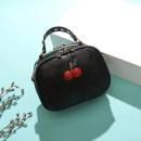 Bag The single shoulder bag Sheepskin Small round bun Other / other Black 812 One shoulder cross carry