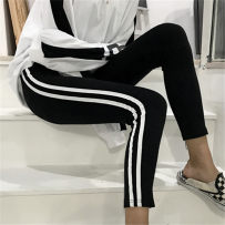 Leggings Autumn of 2018 Black dark grey Average size routine Capris / Capris 18-24 years old Other / other polyester fiber 31% (inclusive) - 50% (inclusive)