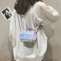 Bag The single shoulder bag PU Shell bag Zhiwei Pink [colorful laser] yellow [colorful laser] blue [colorful laser] brand new Japan and South Korea no