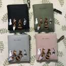 wallet Short Wallet cotton Belinfesso brand new Sweet Lady  female Zipper buckle Animal design 80% off Horizontal style youth Large banknote holder photo position dark space change position zipper space card position cotton