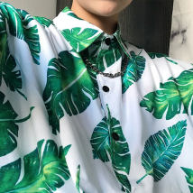 shirt Youth fashion Others M L Picture color routine Short sleeve square neck easy Travel? summer Polyester 100% 2018