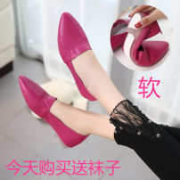 Low top shoes Shallow mouth The gun is big red, white, blue, black and magenta Other/others 35 standard 36 standard 37 standard 38 standard 39 standard 40 standard 41 standard code 34 standard code Pointed The first layer of leather Flat heel (less than or equal to 1cm) flat PU Summer of 2018 Casual