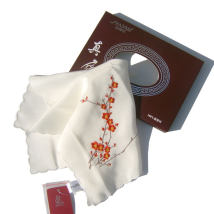 Handkerchief Red plum fragrance, flower basket, colorful butterfly and rose Shayali ZSXHDSP02