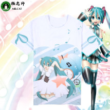 Cartoon T-shirt / Shoes / clothing T-shirt Over 14 years old VOCALOID / V home goods in stock M, l, XL, XXL, XXL Japan currency Cat teacher Leisure lovely retro college art Japanese fashion punkson women sweet Street Sports commuting cotton Hatsune Miku CY2312