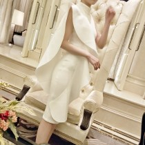 Dress / evening wear Weddings, adulthood parties, company annual meetings, daily appointments S M L milky white Netting
