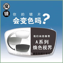 Spectacle lenses Resin Anti radiation, anti ultraviolet seven color lens, color changing aspheric lens, others Mirror master 1.56 (thinner) Within 400 degrees aspheric surface Hard film Mild myopia