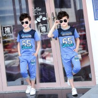 suit Other / other 130cm 140cm 150cm 160cm male summer Versatile Short sleeve + pants 2 pieces Thin money There are models in the real shooting Socket