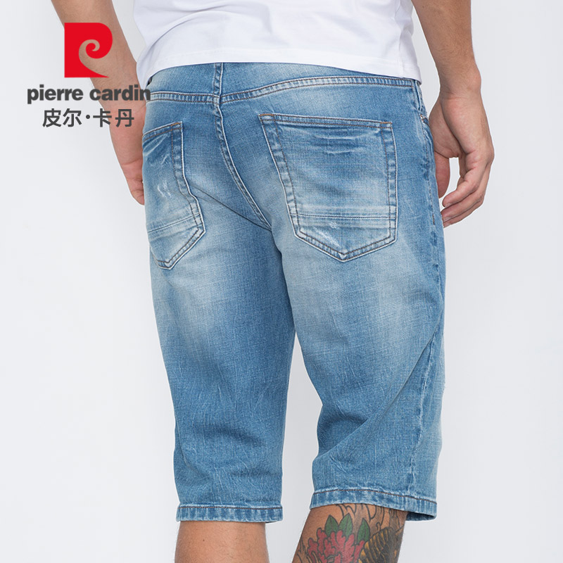 Jeans Youth fashion Pierre Cardin / Pierre Cardin Thirty 203627 regular Thin money Micro bomb Mercerized denim Summer 2016