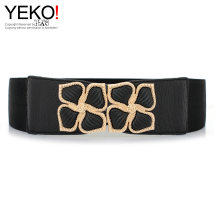 Belt / belt / chain Pu (artificial leather) black female Waistband Versatile Single loop Youth, middle age a hook other soft surface 6cm alloy Yeko yes